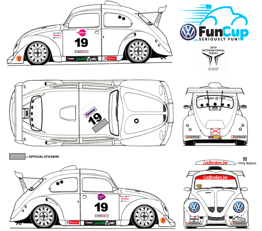image 0 - The sticker plan for the Hankook 25 Hours VW Fun Cup is available!